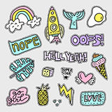 Set of patch designs Royalty Free Stock Images