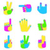 Set of patch gesture Stock Images