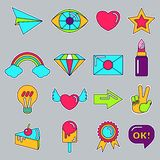 Set of patch icons Royalty Free Stock Photography
