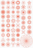 Set patchwork. Set of patterns for an embroidery (patchwork Stock Photos