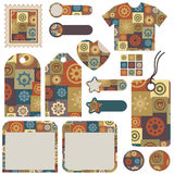 Set of patchwork designs Stock Photography