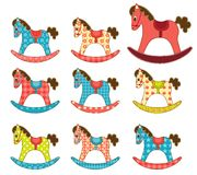 Set of patchwork horses 7. Royalty Free Stock Photography