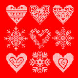 Set patchwork knitted Royalty Free Stock Images