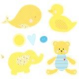 Set patchwork śliczne zabawki Zdjęcie Stock