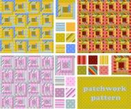 Set patchwork pattern Royalty Free Stock Photography