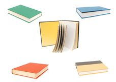 Set of path books Stock Image
