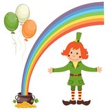Set of Patrick's Day icons Stock Image