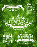 Set of Patricks day decorative elements Stock Photo