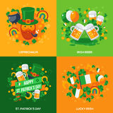 Set Of Patricks Day Flat Icons Concept Royalty Free Stock Image
