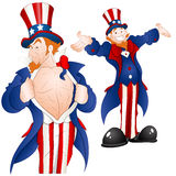 Set of Patriotic Uncle Sam Vector Stock Images