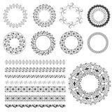 Set pattern arabesque Royalty Free Stock Photo