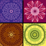 Set pattern arabesque background Royalty Free Stock Image