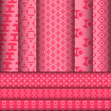 Set of pattern background designs Stock Image