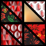 Set of pattern. background. patchwork. banner design. illustrati Royalty Free Stock Photography