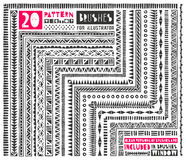 Set of 20 pattern brushes for Illustrator. Seamless borders collection in tribal style includes clean versions of brushes without grunge effect. EPS 10 vector Vector Illustration