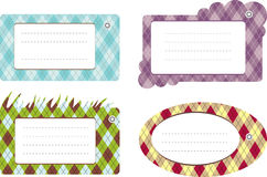 Set of pattern cards Stock Image