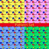 Set Pattern with colored balloons Stock Photo