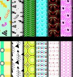 Set pattern geometric Stock Images