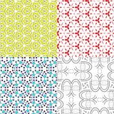 Set pattern - geometric seamless simple modern Royalty Free Stock Image