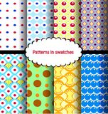 Set Pattern point Royalty Free Stock Images
