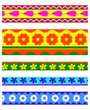 Set of pattern ribbon Royalty Free Stock Photography