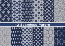 Set Of Pattern In Seamless Design. royalty free illustration