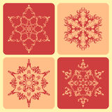 Set of pattern snowflakes. Royalty Free Stock Photo