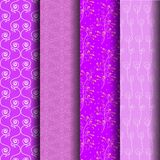 Set pattern of stripes and geometrical in purple. That can be used endlessly Royalty Free Stock Image