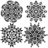 Set of pattern tattoo. Mandala in black Stock Photography