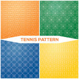 Set pattern tennis racket Royalty Free Stock Photos