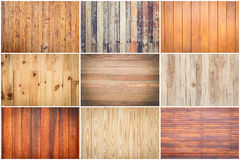 Set of pattern wood texture Royalty Free Stock Images