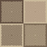 Set of patterned blocks Royalty Free Stock Image