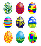 Set of patterned Easter eggs Royalty Free Stock Image
