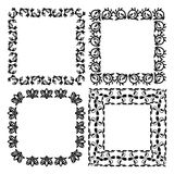 A set of patterned frames. On white background. 4 frames. Vector illustration Royalty Free Stock Images