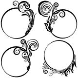 Set patterned round frames. Stock Photo