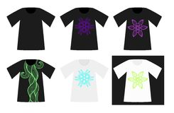 Set of patterned vector T-Shirts Royalty Free Stock Photos