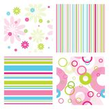 Set of patterns. Set of modern seamless patterns Royalty Free Stock Image