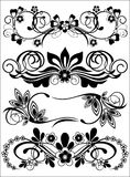 Set Of Patterns. Set of silhouettes of decorative floral patterns Stock Image
