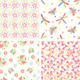 Set of patterns stock illustration