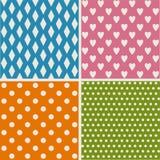 Set of patterns Stock Photography