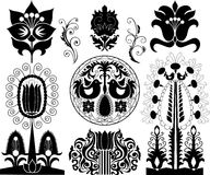 Set of  patterns Stock Photos