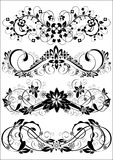 Set Of Patterns. Set of vector decorative floral patterns Stock Photos