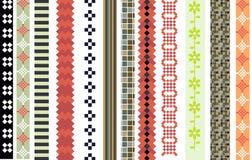 Set of patterns Stock Photo