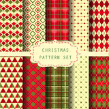Set of patterns and background for christmas Stock Photography