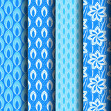 Set Patterns blue. Geometries can be used endlessly Royalty Free Stock Photo
