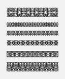 Set of patterns for borders frames Royalty Free Stock Photography