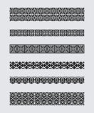 Set of patterns for borders frames Stock Image