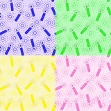 Set-of-patterns-with-candles Royalty Free Stock Image