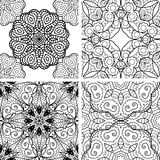 Set of patterns with circle ornament Royalty Free Stock Photography