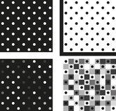 Set of 4 patterns Royalty Free Stock Photos